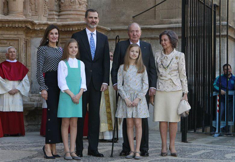 Protocolo Casa Real en la Misa de Pascua