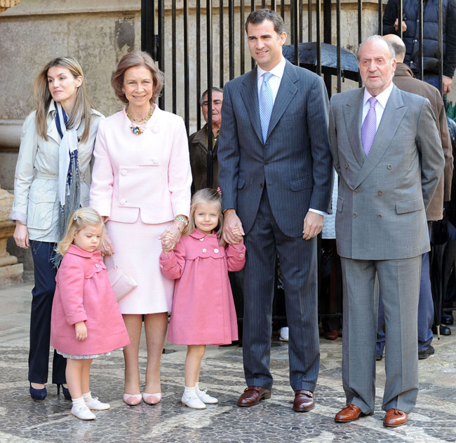 Protocolo Casa Real en la Misa de Pascua.