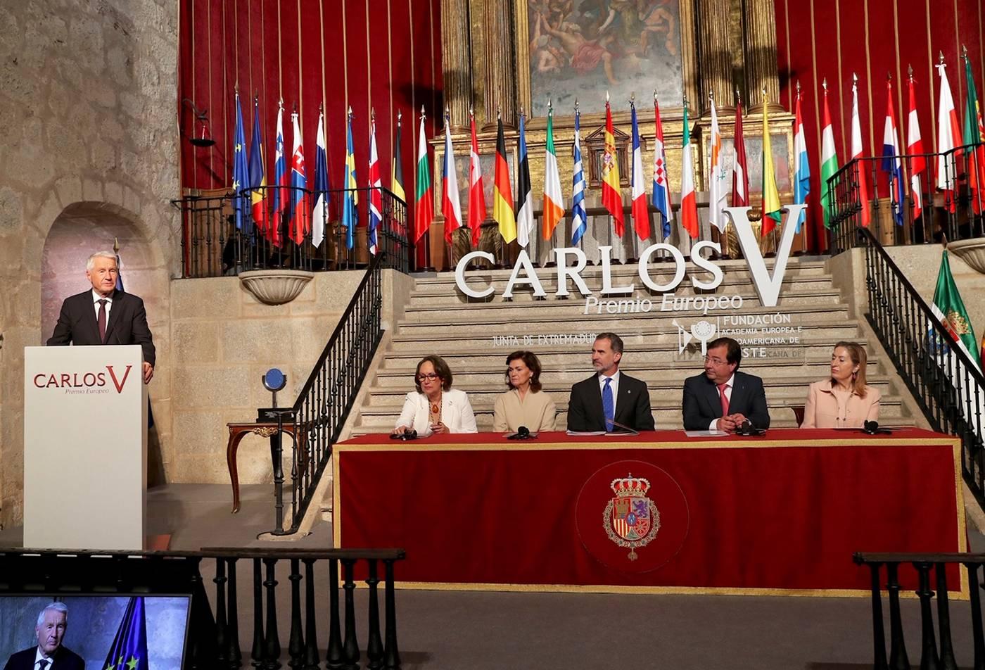 Protocolo entrega Premio Europeo Carlos V